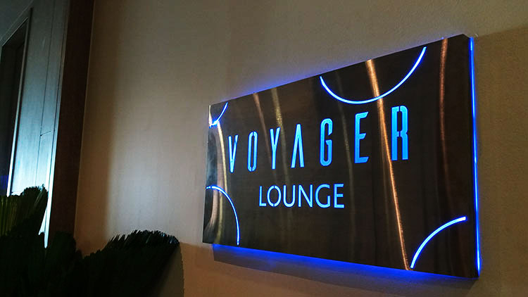 Lounge Logo Sign - 3D Stainless Steel