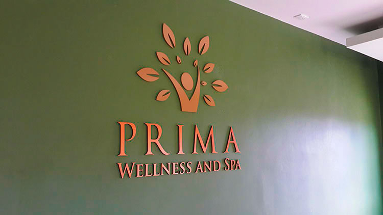 Spa Logo Sign - 3D Plasswood Sprayed Copper Color